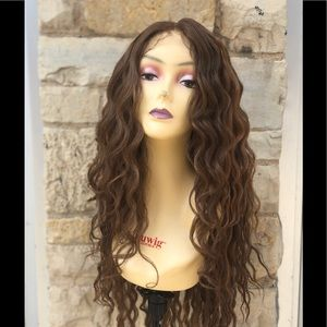 Copper Ginger Brown transparent lace wig